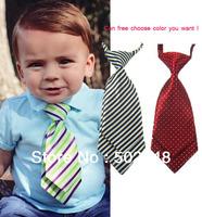 Baby Toddler Boy Necktie Tie kids Infant Stripe Necktie Imitation Silk Ties Free Shipping 30 pcs