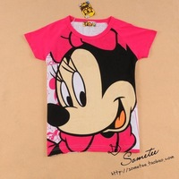 Free ship women/lady MINNIE minnie  short-sleeve 100% cotton t-shirt t shirt