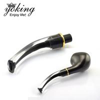 Smoking set acrylic smoking pipe cigarette holder smoking pipe accessories thickening type curved handle