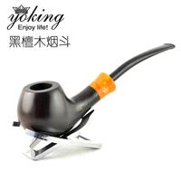Smoking set handmade ebony smoking pipe curved handle smoking pipe smoking set piece set