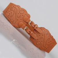 Free shipping Female  Fashion vintage cutout cummerbund pin buckle elastic belts  women's wide belt decoration belt women