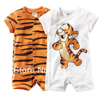 Free shipping 2013 Summer New Arrival Tigger baby rompers,cartoon baby romper,6pcs/lot wholesale