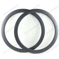 Newest 25mm wide carbon rims 50mm clincher 3k/ud glossy/matte finish 20/24 holes front and rear carbon wheels bike rims