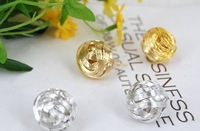 Min.order is $15 (mix order) Free Shipping & Gold Metal Weaved Cute Ball Stud Earrings