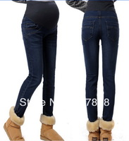 Wholesale - 2014 New Spring Fashion Pencil pants Maternity jeans Pregnant women Jeans Casual Maternity abdominal pants #YZ078
