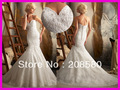 2013 Sweetheart Beaded Appliques Lace Mermaid Wedding Gowns Bridal Dresses W1309