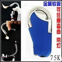 free  shipping Ignition gun elbow lighter - with light - smoking pipe