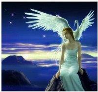 "Handicrafts Repro oil painting:""fantasy girl and Stork"" Guaranteed 100% Free shipping"