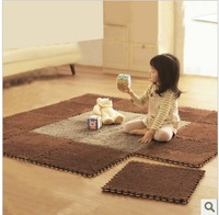 30*30*0.8cm*9 pieces Roco japanese style soft Shaggy mat magic cube slip-resistant carpet mats child crawling mat