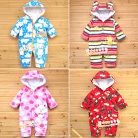 baby polar fleece fabric jumpsuit bodysuit clip cotton   baby 18m   E1000