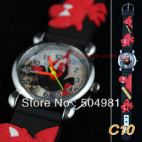 Free delivery  2 PCS New Arrival  Justice spider-man    Watch 3D cartoon Children's kid boy Quartz Watches Xmas Gift    c10