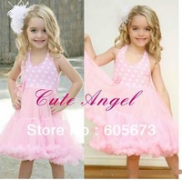 Free Ship 4P/Lot Promotion price girl kids Pink one piece dress zebra pettiskirt tutu leopard pettiskirt tutu vest dresses 2-8T