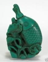 Rare tibet Chinese fish turquoise Bottle snuff
