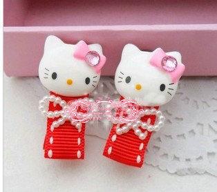 40 pcs hello kitty children's hair clip baby hair bow korean hair accessories girls wafer kids accessories