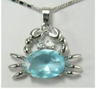 Stunning blue Crab Jewelry Pendant/Necklace