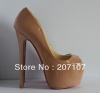 Wholesale 160mm Daffodil women shoes,Nude pumps,open toe high heeled sandals