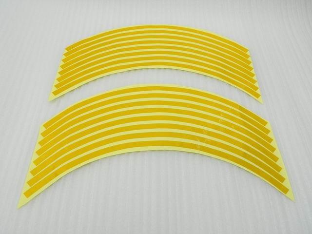 """17"""" Yellow Rim Stripe Decal Round Tape For Suzuki GSXR 600 1000 1300(China (Mainland))"""