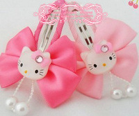 40 pcs    hello kitty  children's hair clip baby hair bow korean hair accessories girls wafer kids accessories