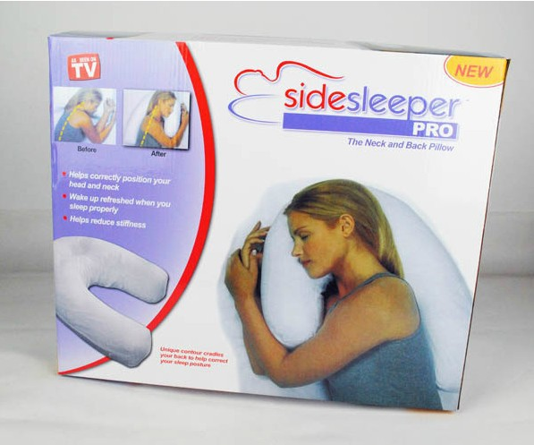 100% Cotton U Shape Doctor Recmommend Healthy Side Sleeper Pro Pillow Pregnant women's Pillow(China (Mainland))