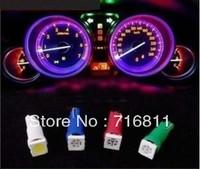 T5 5050 1 SMD LED light lamp bulbs Wedge dashboard 12V  20pcs free shipping hot selling