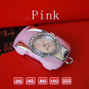 10pcs/lot Plastic diamond car key USB drive flash memory with key chain 2GB to 32GB Fastest post free shipping
