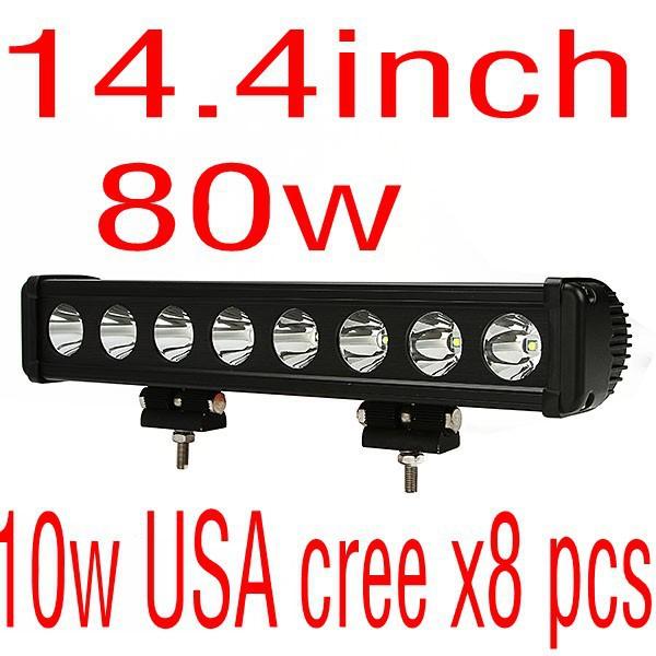 cheap ship 14.3 inch 10w USA cree x8pcs 80w led light bar ATVs SUV offroad truck light fire engine,police cars vehicle(China (Mainland))