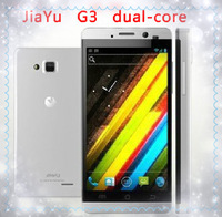"Free shipping Jiayu G3 phone MTK6577 Dual core 1GHZ CPU dual sim GPS 4.5"" IPS screen gorilla glass black silver gray"