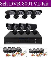 Home 8CH CCTV DVR 8pcs 800TVL Day Night Weatherproof Security Camera Surveillance System