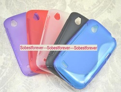 For HTC Desire X Proto T328e soft silicone s line gel tpu case cover skin,20pcs/lot,free shipping(China (Mainland))