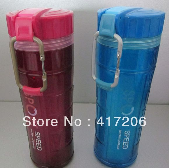 FACTORY OUTLETS JB426 Double Wall 600ml Sports Water Jug BPA Free(China (Mainland))