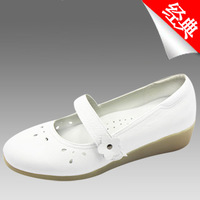 2013 nurse shoes  genuine leather loafers women leather shoes mary janes wedges shoes  flats beige sandals lady shoes