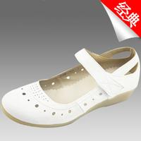 2013 sandals new arrivals shoes for summer  white nurse shoes cutout genuine leather women's shoes design shoes mothershoes34-41