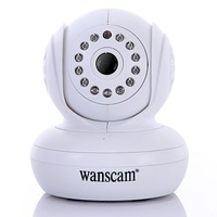 Night Vision Wireless WiFi IP Camera 13 IR LED Dual Audio Webcam White, freeshipping
