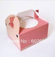 Four pack egg tart box/lovely pink cake box 100PCS/LOT free shipping cooking tools