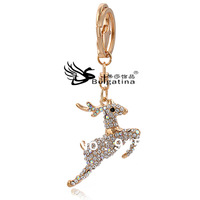 Wholesale Girls Fashion Keychain Holder Metal With Crystal Free Shipping Rhinestone Diamond Keychain Ring