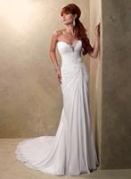 New Design Beach Chiffon  Off the Shoulder Chiffon Bride Wedding Gowns 2013