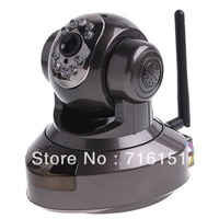 Aluminium alloy EasyN Wireless IR WiFi CCD IP Camera Alarm Monitor with 9LEDs and nightvision HS-691B-M186I, freeshipping