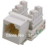 Free Shipping+Brand New 20pcs/lot RJ45 Keystone jack for Network Jack Cat5e/Cat 5e/5(China (Mainland))