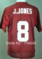 Alabama Crimson Tide Julio Jones 8 Crimson College Football Jersey free shipping accept mix order