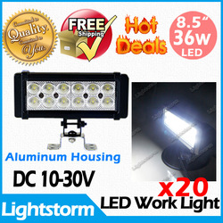 20 PCS Super bright! One year warranty new brand 36w LED off road light bar ,4x4 led working light For Engineering(China (Mainland))