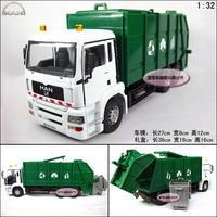 free shipping Accessplatforms Bureau car garbage truck luxury gift box set alloy car model