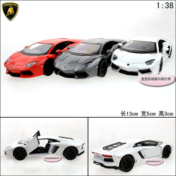Lamborghini aventador lp700-4 two open door alloy car model