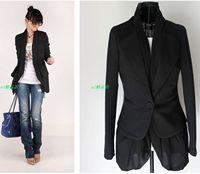 2 2013 spring and autumn faux two piece set chiffon patchwork slim ol blazer women's outerwear
