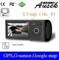 Special offer car DVR camera 2.7 inch dual camera with GPS/ G-sensor HD car camera Dual camera  freeshipping  AK-400