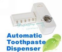 New Hands Free Automatic Toothpaste Tooth Paste Dispenser Tooth brush Holder sets toothbrush Family sets Drop Free Shipping