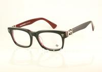 Free shipping Hot sell Fashion Acetate eyeglasses men's/women's Designer GITTINANY Black optical glasses 52mm airmail