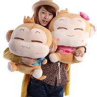 Free shipping  Yoci  monkey plush toy , monkey doll ,birthday wedding gift,lovers toys ,50cm big size .