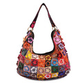 2013 New Arival Bohemia 100% Genuine Leather Woman Bags Fashion Flower Handbags Ladies Shoulder Bag M107