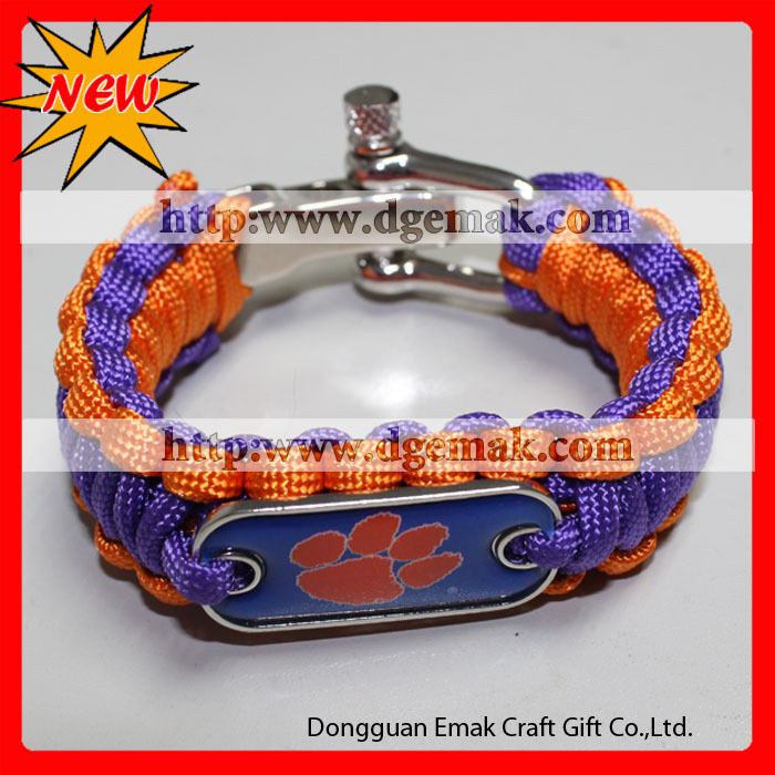 2013 colorfull and best college team NCAA football paracord bracelets(China (Mainland))