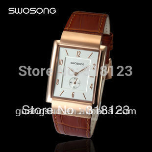 famous brand Ultrathin Business Watch Copper Wrist Watch for Lovers Watch japan movt quartz watch stainless steel back(China (Mainland))